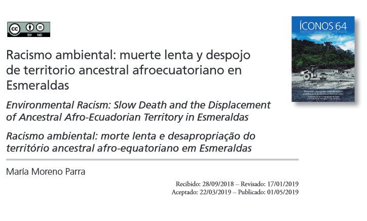 Slow Death and the Displacement  of Ancestral Afro-Ecuadorian Territory in Esmeraldas