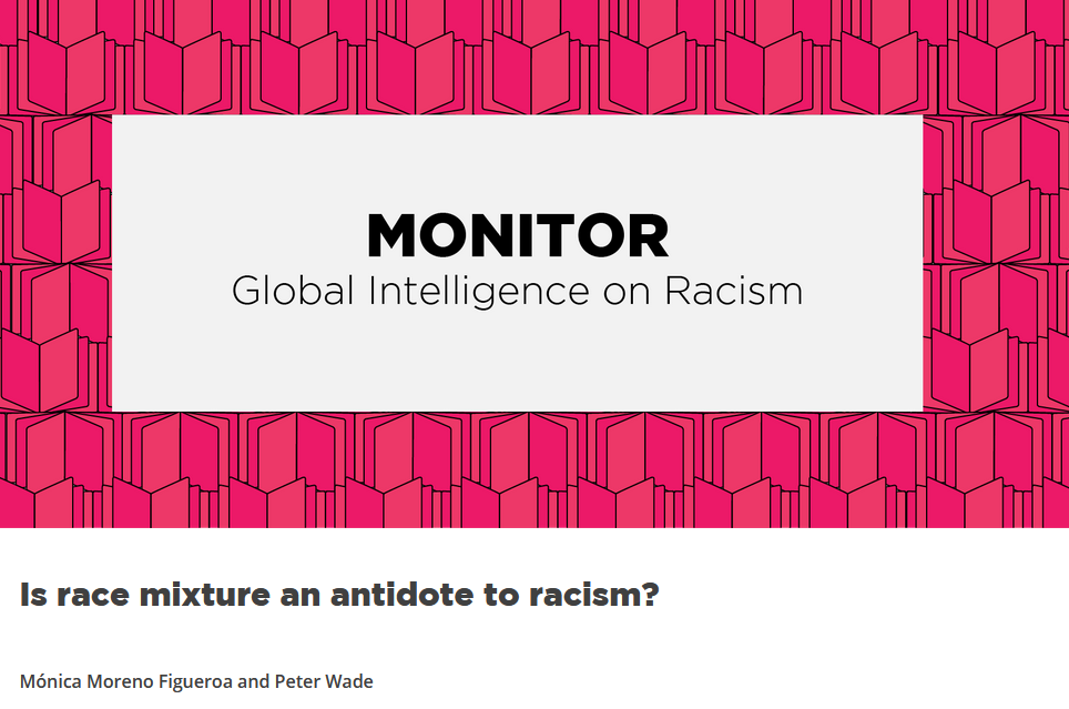 Is race mixture an antidote to racism?